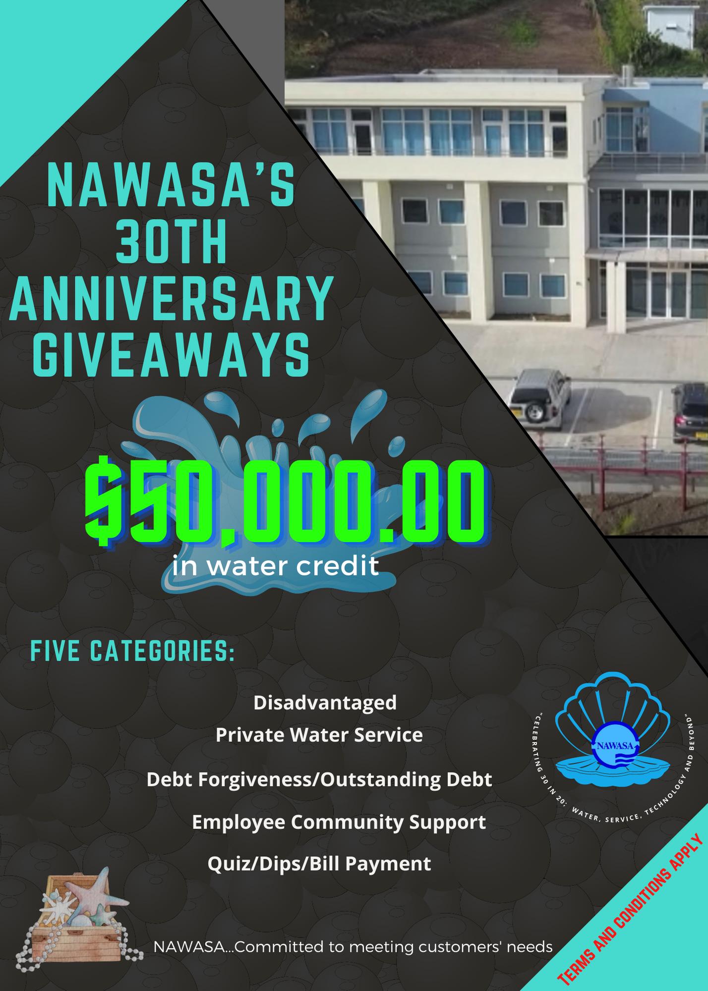 NAWASA's Anniversary Giveaway
