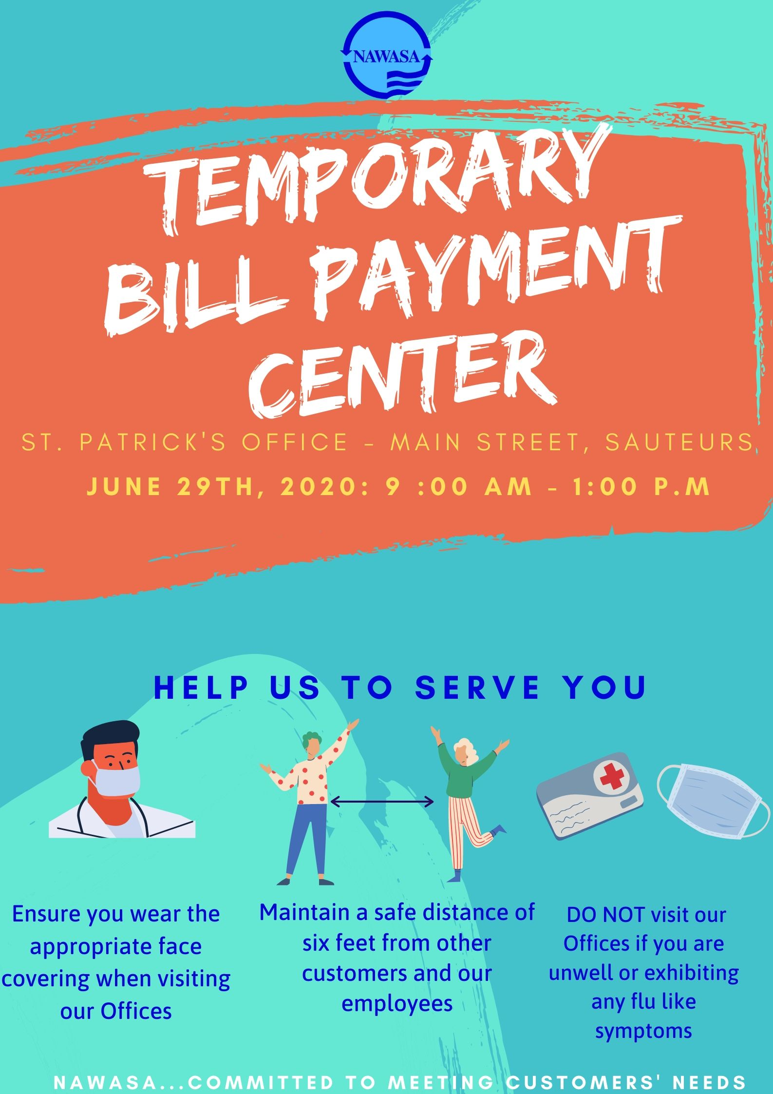 Temporary Payment Center St. Patrick