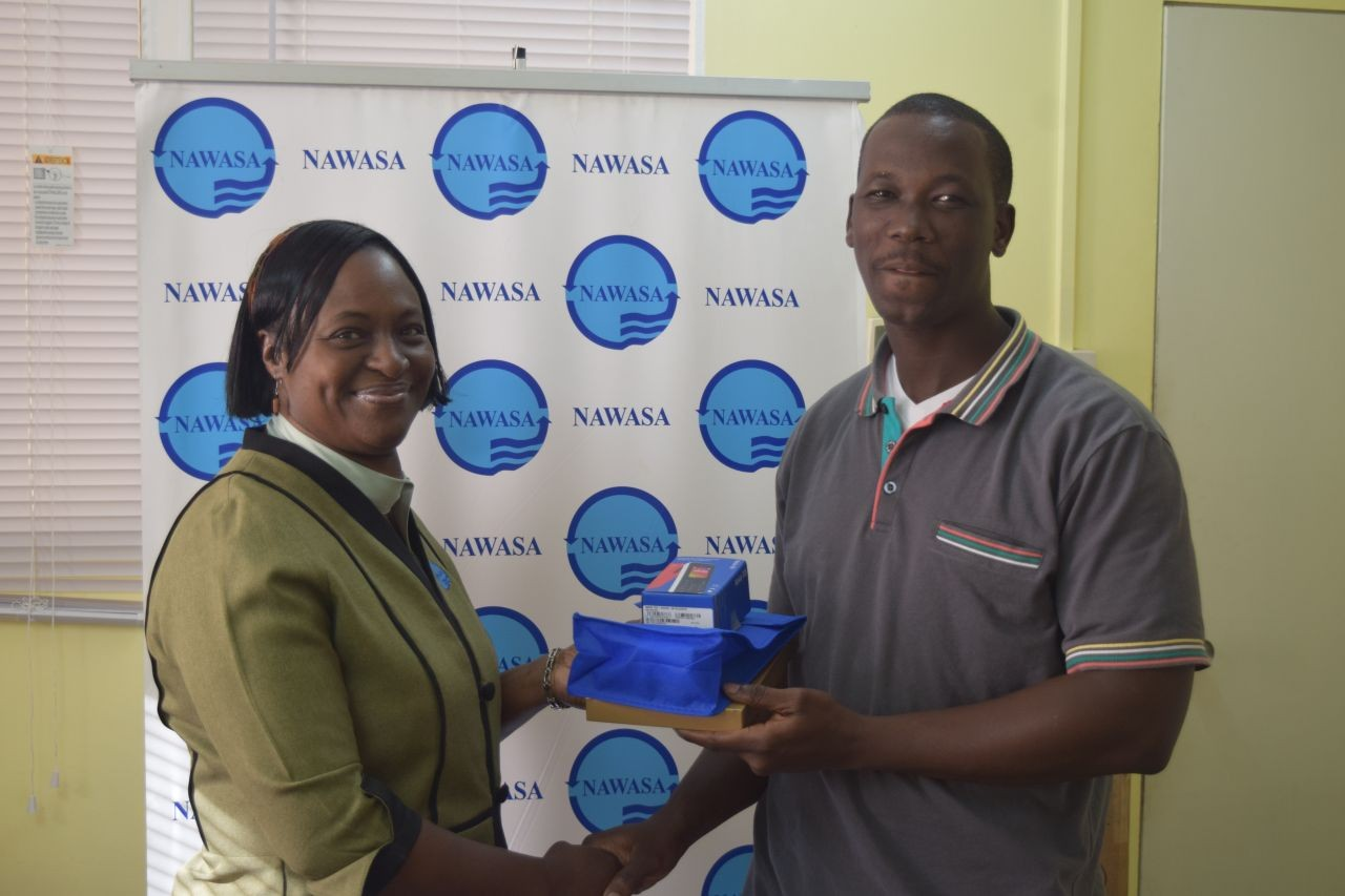 NAWASA recognizes heroic Police Officer